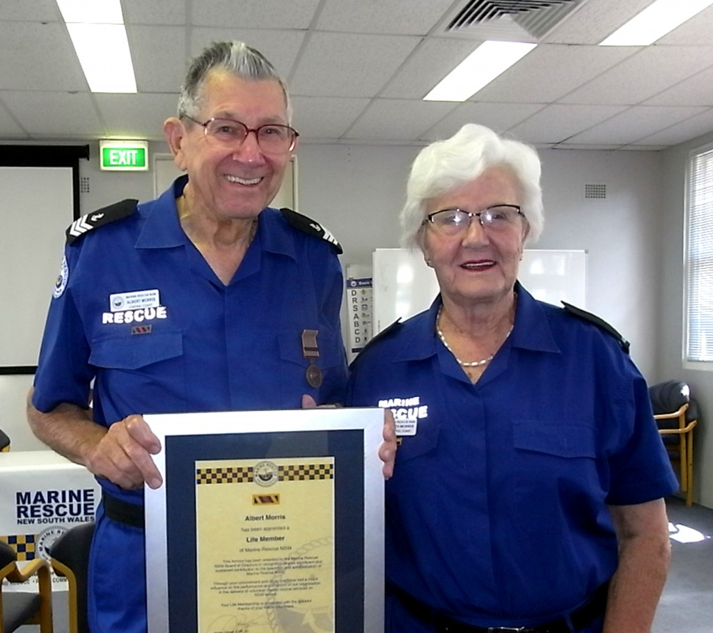 Al and Judith Morris following the presentation of Life Membership of MRNSW