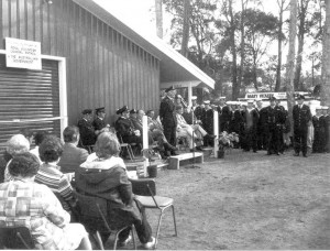 CDRE. J. MacKinnon, O.C. RVCP, during his address at the official opening of the Point Clare Base, 16 August, 1975